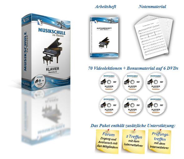 Klavier lernen auf DVDs für Anfänger