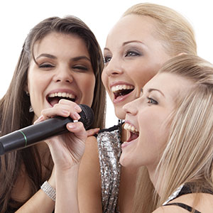 Die Sänger singen