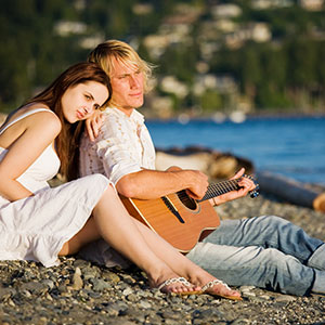 Empfang auf Gitarre auf See