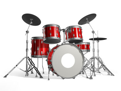 rot Schlagzeug