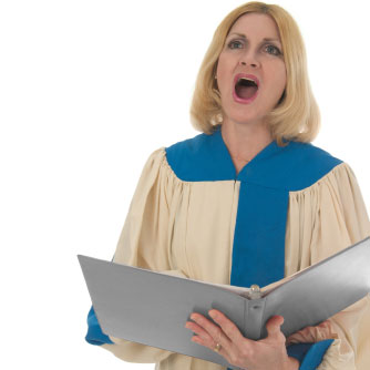 Die Dame lernt singen