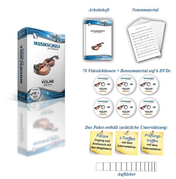 Violine lernen auf DVDs für Anfänger